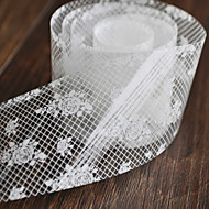 Sexy Nail Stickers Nail DIY Nail Wrap Foil Decorative Stickers Beauty Lace Grid White Rose