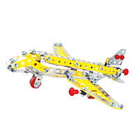Jigsaw Puzzles 3D Puzzles / Metal Puzzles Building Blocks DIY Toys Aircraft 181 Metal Red / Yellow / Silver Model & Building Toy