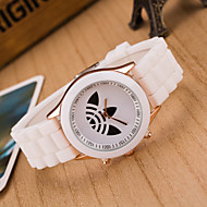 Women Korean Fashion Clover Personality Silicone Wrist Watch Cool Watches Unique Watches