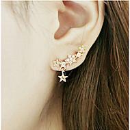 Damen Tropfen-Ohrringe individualisiert Modeschmuck Aleación Sternenform Schmuck Für