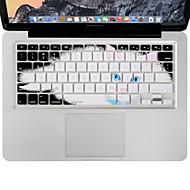 xskn kestävä ultraohut näppäimistö kattaa silikoni iho laiska kissa MacBook Air / Pro 13 15 17 tuumaa, meidän layout