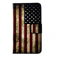Mert Samsung Galaxy tok Pénztárca / Kártyatartó / Állvánnyal / Flip Case Teljes védelem Case Zászló Műbőr Samsung S7
