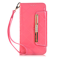 For Samsung Galaxy Case Wallet / Card Holder / with Stand / Flip Case Full Body Case Solid Color PU Leather Samsung S7