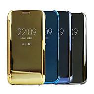 용 삼성 갤럭시 케이스 거울 / 플립 케이스 풀 바디 케이스 단색 PC Samsung E7 / E5