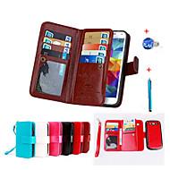 Mert Pénztárca / Kártyatartó / Állvánnyal / Flip / Mágneses Case Teljes védelem Case Egyszínű Kemény Műbőr SamsungGrand Prime / Core