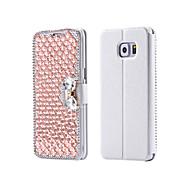ylellisyyttä bling Crystal& timantti PU nahka flip pussi Samsung Galaxy S3 / S4 / S5 / S6 / s6e / S7 / s6e plus