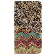 Na Samsung Galaxy Etui Etui na karty / Z podpórką / Flip / Wzór / Magnetyczne Kılıf Futerał Kılıf Kwiat Skóra PU SamsungA7(2016) /