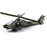 Jigsaw Puzzles 3D Puzzles Paper Model Building Blocks DIY Toys Helicopter Paper Green Model & Building Toy