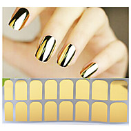 1sheet Adhesive Nail Art Stickers Gold Silver Black Nail Patch,Full Cover Nail Foil Wraps,DIY Beauty Nail Decals Tools