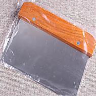 aluat tăietor de produse de panificație Concasor screper instrument de bucătărie din oțel inoxidabil mâner din lemn