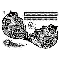 Väliaikaisetmaalit-Tearbeauty-Muut-Paperi-Pitsi-006-34cm*23cm-Musta-1-Naisten / Aikuinen