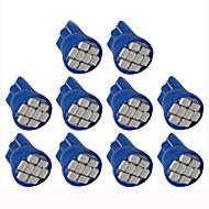 lorcoo ™ 10pcs LED-Autoscheinwerfer Glühbirne t10 3528 4-SMD 194 168 (weiß, blau)