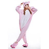Kigurumi Pajamas New Cosplay® / Piggy/Pig Leotard/Onesie Festival/Holiday Animal Sleepwear Halloween Pink Patchwork Polar Fleece Kigurumi