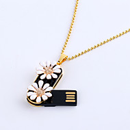 16GB Necklace Daisy Jewelry USB 2.0 Rotatable Flash Memory Stick Drive U Disk ZP-02