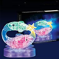 Jigsaw Puzzles 3D Puzzles / Crystal Puzzles Building Blocks DIY Toys Fish 45pcs ABS Transparent Model & Building Toy