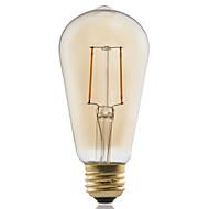 2W E26/E27 LED-glødepærer ST58 2 COB ≥180 lm Varm hvit Dekorativ AC 220-240 V 1 stk.