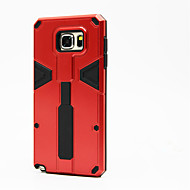 Telescopic Ring Bracket Shockproof Armor Back Cover For Samsung Galaxy Note 5 Hybrid PC+TPU Protector