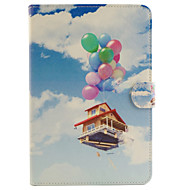 Balloon House Pattern Combo Bracket TPU and PU Leather Material Case for iPad Mini 3/2/1
