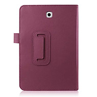 Pour Samsung Galaxy Coque Avec Support Clapet Coque Coque Intégrale Coque Couleur Pleine Cuir PU pour Samsung Tab S2 8.0