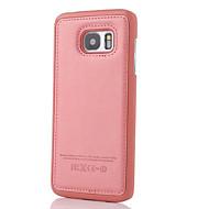 Voor Samsung Galaxy S7 Edge Reliëfopdruk hoesje Achterkantje hoesje Effen kleur PU-leer SamsungS7 edge / S7 / S6 edge plus / S6 edge / S6