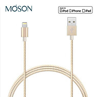 mfi 8pin twist vævet nylon kabel usb Data Sync oplader kabel til iphone5 6 6 plus ipad transmission afgift line 100cm