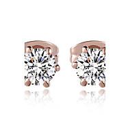 Kryształ Kamienie zodiakalne Klasyczny sztuczna Diament Silver 5# Różowe złoto Biżuteria Na