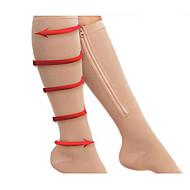 Zipper Compression Socks Zip Leg Support Knee Stockings Sox Open Toe