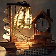 kreativ træ lys ur sejle lampe dekoration bordlampe soveværelse lampe gave til barn