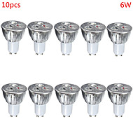 Spot LED Décorative Blanc Chaud / Blanc Froid HRY 10 pièces MR16 GU10 / E26/E27 6W 3 LED Haute Puissance 500 lm AC 85-265 V