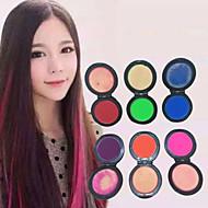 6 färger tillfälligt hår krita pulver pastell hårfärg färgämne mjukt pastell salong part jul DIY