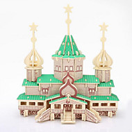 3D Puzzles  Wooden Three-Dimensional Puzzle Children'S Educational Toys Russian Christmas Big Wooden Building Model