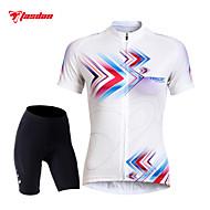 TASDAN Ciclismo Top / Pantaloncini / Maglietta / Pantaloncini imbottiti di protezione / Manicotti Per donna BiciclettaTraspirante /