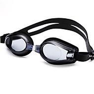YUKE Swimming Goggles Women's / Men's / Unisex Anti-Fog / Waterproof / Adjustable Size / Anti-UV / For nearsightedness Silica Gel PCBlack