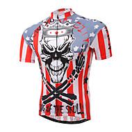 XINTOWN® Bisiklet Forması Erkek Kısa Kol Bisiklet Nefes Alabilir / Hızlı Kuruma / Ultravioleye Karşı Dayanıklı / Bakterileri Kısıtlar