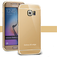 Bling Metal Aluminum Alloy Frame Mirror Acrylic Plastic Back Cover Case For Samsung S3/S4/S5/S6/S6 Edge/S6 Edge Plus