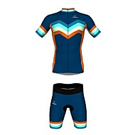 Jersey(Azul,Preto) - paraEsportes Relaxantes / Ciclismo-Unissexo-Respirável / Resistente Raios Ultravioleta / Secagem Rápida- comManga