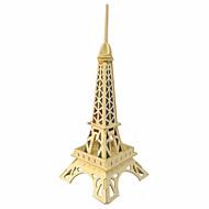 puslespil 3D-puslespil / Træpuslespil Byggesten DIY legetøj Berømte bygninger Træ Guld Model- og byggelegetøj