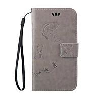 Voor Samsung Galaxy hoesje Kaarthouder / met standaard / Flip / Reliëfopdruk / Magnetisch hoesje Volledige behuizing hoesje Vlinder