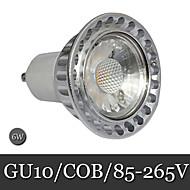 6W GU10 Focos LED Luces Empotradas 1LED COB 300 lm Blanco Cálido / Blanco Fresco Decorativa AC 85-265 V 1 pieza