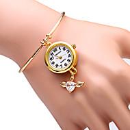 JUBAOLI Damskie Modny Zegarek na bransoletce Kwarcowy Stop Pasmo Błyszczące Heart Shape Złoty Gold