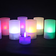 1pc solare colore potenza che cambia la luce del tè tealight candela senza fiamma tremula natale nozze
