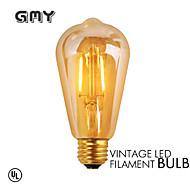 1 st GMY E26/E27 2W 2 COB ≥180 lm Varmvit ST64 edison Vintage LED-glödlampor AC 220-240 V