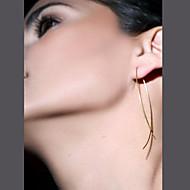Stangøreringe minimalistisk stil Europæisk Mode Plastik Smykker Sort Sølv Gylden Smykker For Fest Daglig Afslappet 1 Par
