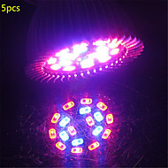 5x hry® 5w e27 18xsmd5730 200lm 12red + 6blue spectre complet led grow lumières (85-265V)