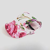 고양이 개 반다나&모자 핑크 강아지 의류 여름 모든계절/가을 꽃장식 휴일