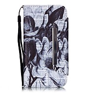 černý a bílý vzor pu leahter celého těla krytu s podstavcem a slotem pro paměťovou kartu pro Samsung Galaxy S4 S5 S6 s6edge S7 s7edge