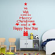 Kerstmis / Woorden en Citaten / Feest / Vormen Wall Stickers Vliegtuig Muurstickers,vinyl 43*24cm
