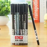 Leopard Grain Pattern Black Ink Gel Pen(1 PCS)