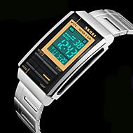 Hommes Bracelet Montre Quartz Japonais LCD / Calendrier / Chronographe / Etanche / penggera Acier Inoxydable Bande Argent Marque-