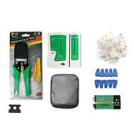 bärbara Ethernet nätverkskabel testare verktyg kit rj45 pressning VECKARE strippa slå ner RJ11 cat5 cat6 tråd detektor